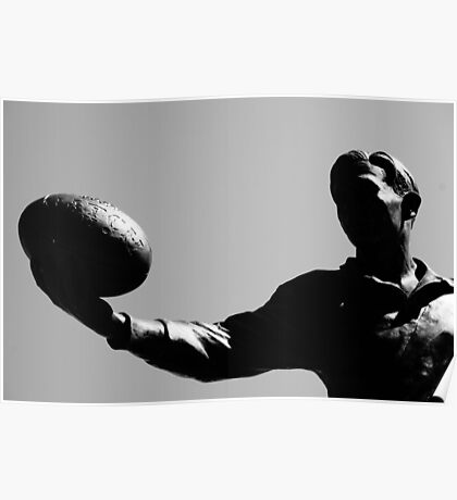 AFL player statue Poster