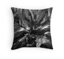 Abstract B&W Throw Pillow