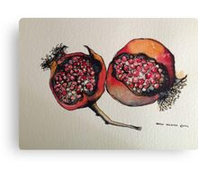 Pomegranate. Pen and wash 2012 Canvas Print