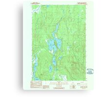 Maine USGS Historical Map Clifford Lake 807859 1990 24000 Canvas Print