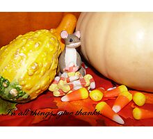 Giving Thanks on Thanksgiving Photographic Print