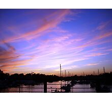 Annapolis Sunset sky  Photographic Print