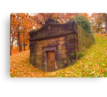 Autumn Tomb Canvas Print