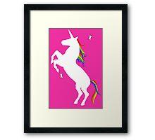 Rainbow Unicorn Framed Print