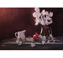 White Bouganvillea (Original oil painting) Photographic Print