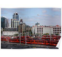 San Diego Trolley Station Poster