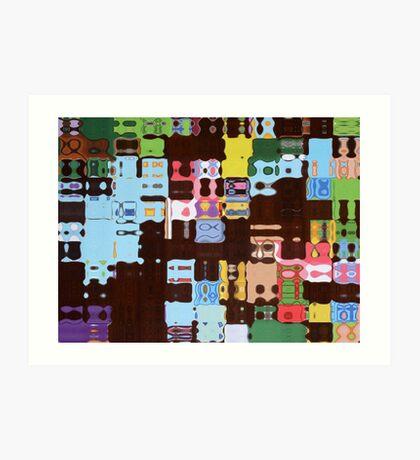 puzzle pieces Art Print