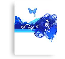 Bleu Edge Canvas Print