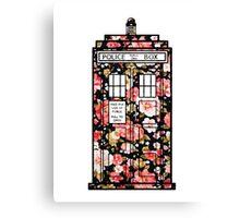 Floral TARDIS 2 Canvas Print