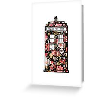 Floral TARDIS 2 Greeting Card