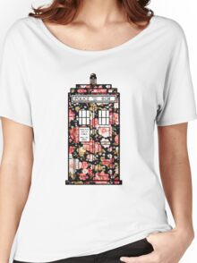 Floral TARDIS 2 Women's Relaxed Fit T-Shirt