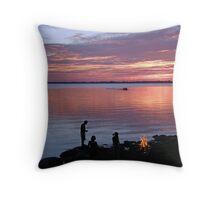 Enjoying The Late sunset Throw Pillow