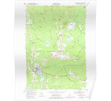 Maine USGS Historical Map Columbia Falls 105042 1948 24000 Poster