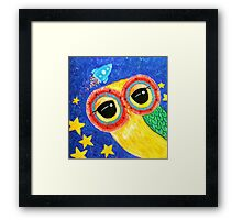 First Owl In Space Framed Print
