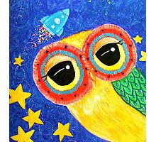 First Owl In Space Photographic Print