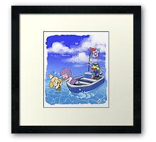 Isabelle Overboard! Framed Print