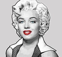 Marilyn Starz - Marilyn Monroe -  Black, White & Red by Everett Day