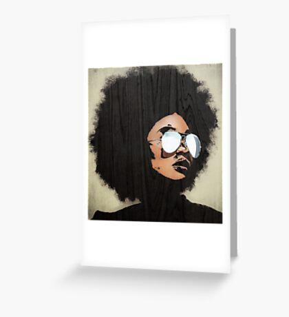 Venus Afro Greeting Card