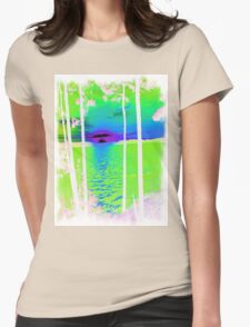 Green-Available As Art Prints-Mugs,Cases,Duvets,T Shirts,Stickers,etc Womens Fitted T-Shirt