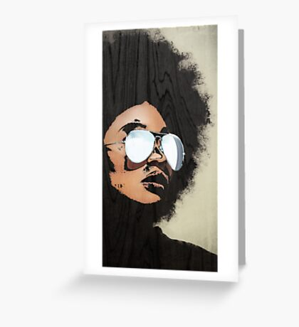 Venus Afro 02 Greeting Card