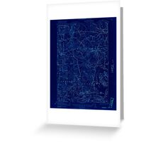 Maine USGS Historical Map Columbia Falls 460328 1921 62500 Inversion Greeting Card
