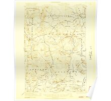 Maine USGS Historical Map Columbia Falls 460328 1921 62500 Poster