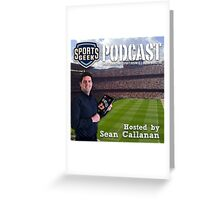 Sports Geek Podcast Cover Art Greeting Card