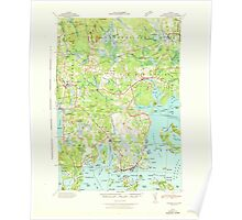 Maine USGS Historical Map Columbia Falls 460329 1942 62500 Poster
