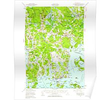 Maine USGS Historical Map Columbia Falls 460330 1941 62500 Poster