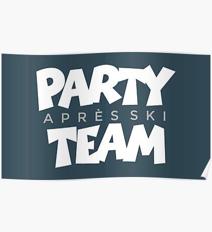 Après-Ski Party Team Winter Sports Design Poster