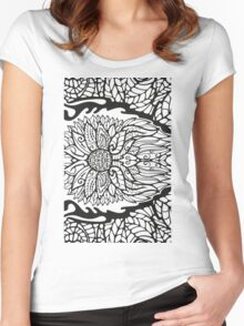 Black White Pattern 1 Women's Fitted Scoop T-Shirt