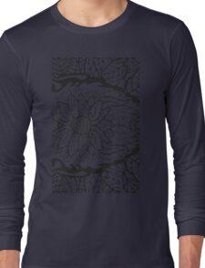 Black White Pattern 1 Long Sleeve T-Shirt