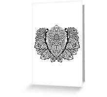 Black White Pattern 1 Greeting Card