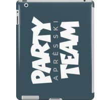 Après-Ski Party Team Winter Sports Design iPad Case/Skin