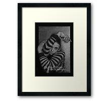 The Black Stripes Framed Print