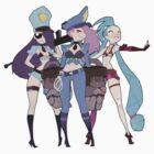 League of Legends Girls by doxydoo
