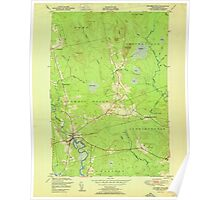 Maine USGS Historical Map Columbia Falls 806615 1951 24000 Poster