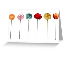 flowers, trend colors, spring 2015, collage, pop art Greeting Card