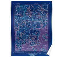 Maine USGS Historical Map Columbia Falls 807452 1921 62500 Inversion Poster