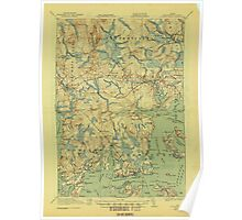 Maine USGS Historical Map Columbia Falls 807452 1921 62500 Poster