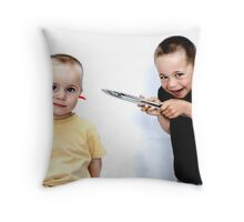 """This Won't Hurt A Bit..."" Throw Pillow"
