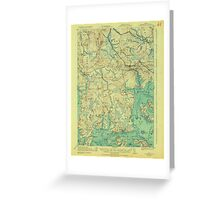 Maine USGS Historical Map Columbia Falls 807453 1921 62500 Greeting Card