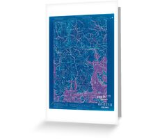 Maine USGS Historical Map Columbia Falls 807454 1921 62500 Inversion Greeting Card