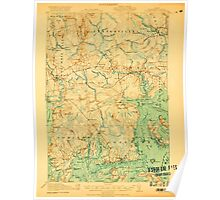Maine USGS Historical Map Columbia Falls 807454 1921 62500 Poster