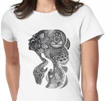 Zentangle woman Womens Fitted T-Shirt