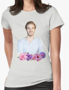 PEWDIEPIE - FLOWER BORDER Womens Fitted T-Shirt