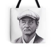 Realism Charcoal Drawing of Bill Murray Tote Bag