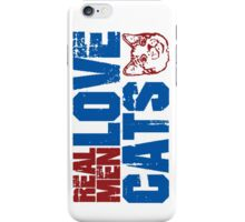 REAL MEN LOVE CATS. Transparent distressed effect. iPhone Case/Skin