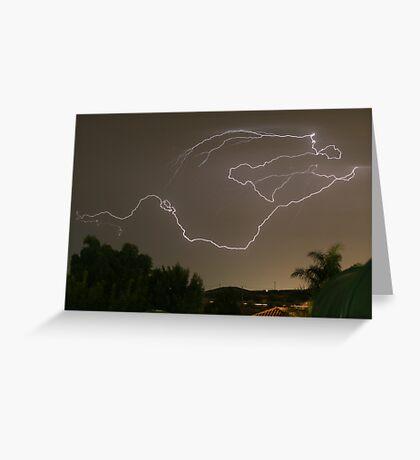 Lightning Strikes Greeting Card