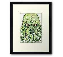 Cthulhu Watercolor Framed Print